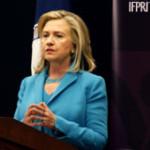 美国国务卿希拉里•克林顿在国际食物政策研究所演讲