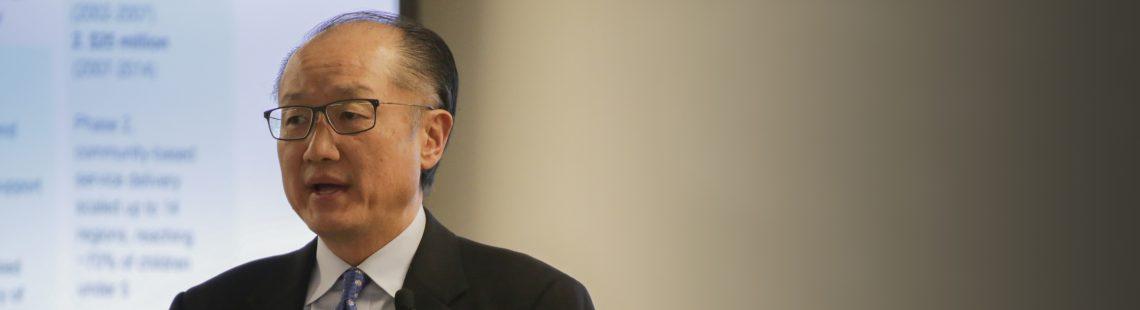 世行行长金墉:投资营养和人力资本以确保发展中国家未来的经济发展